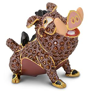 Jeweled The Lion King Figurine by Arribas -- Pumbaa