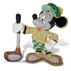 Jeweled Golfer Mickey Mouse Figurine by Arribas