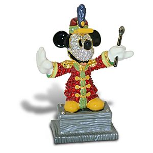 Jeweled Bandleader Mickey Mouse Figurine by Arribas -- 2 1/2 H