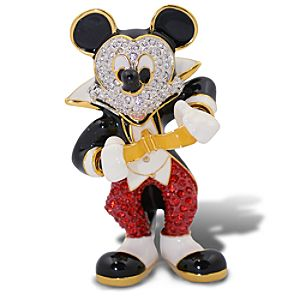 Jeweled Tuxedo Mickey Mouse Figurine by Arribas -- 2 1/4 H