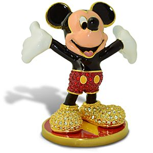 Limited Edition Jeweled Mickey Mouse Figurine with Base by Arribas