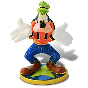 Limited Edition Jeweled Goofy Figurine with Base by Arribas