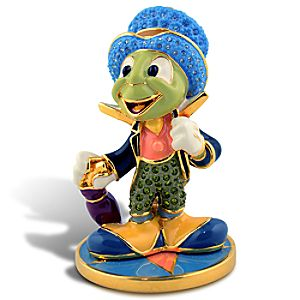 Limited Edition Jeweled Jiminy Cricket Figurine with Base by Arribas