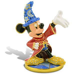 Limited Edition Jeweled Sorcerer Mickey Mouse Figurine with Base by Arribas
