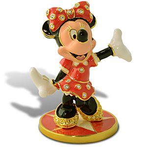 Limited Edition Jeweled Minnie Mouse Figurine with Base by Arribas