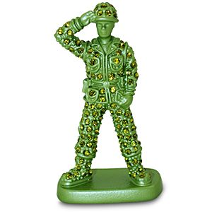 Jeweled Toy Story Figurine by Arribas -- Green Army Men