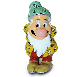 Jeweled Mini Snow White and the Seven Dwarfs Figurine by Arribas -- Bashful