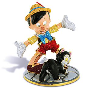 Limited Edition Jeweled Figaro and Pinocchio Figurine by Arribas