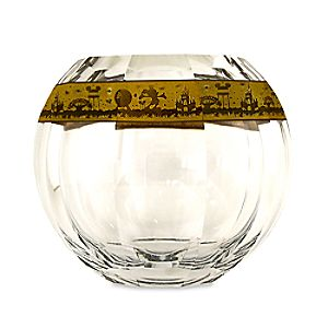 Walt Disney World Crystal Hemisphere Vase with Gold by Arribas Brothers - Limited Edition