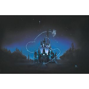 "40 Magical Years"" Cinderella Castle Giclée by Noah"