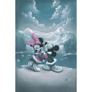 """Alaska Adventure"" Minnie and Mickey Mouse Giclée by Noah"