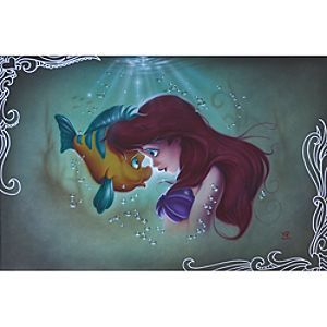 Ariel Flounder The Little Mermaid Giclée by Noah