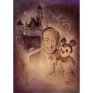 Walt and Mickey 55th Giclée by Noah