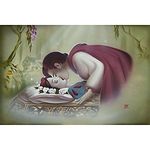 True Loves Kiss Snow White Giclée by Noah