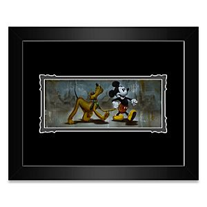 Mickey Mouse and Pluto Mans Best Friend Framed Deluxe Print by Noah