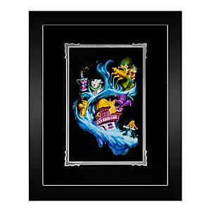 Alice in Wonderland Madness Into Wonder Framed Deluxe Print by Noah