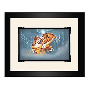 Beauty and the Beast Evening Waltz Framed Deluxe Print by Noah