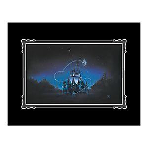 Cinderella Castle 40 Magical Years Deluxe Print by Noah