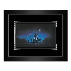 Cinderella Castle 40 Magical Years Framed Deluxe Print by Noah