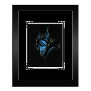 Villains Maleficent Framed Deluxe Print by Noah
