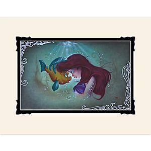 The Little Mermaid Ariel Flounder Deluxe Print by Noah