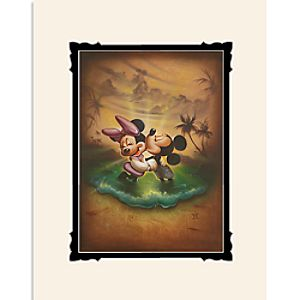 Mickey and Minnie Mouse Life with You Is a Dream Deluxe Print by Noah