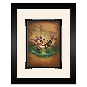 Mickey and Minnie Mouse Life with You Is a Dream Framed Deluxe Print by Noah