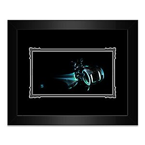 Mickey Mouse Mickey LightCycle Framed Deluxe Print by Noah