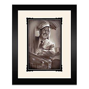 Walt Disney Walt in Train Framed Deluxe Print by Noah