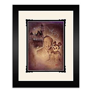 Walt Disney and Mickey Mouse Walt and Mickey 55th Framed Deluxe Print by Noah