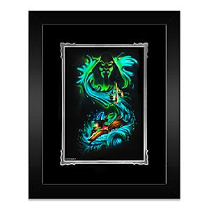 Sorcerer Mickey Mouse Waves of Magic Framed Deluxe Print by Noah
