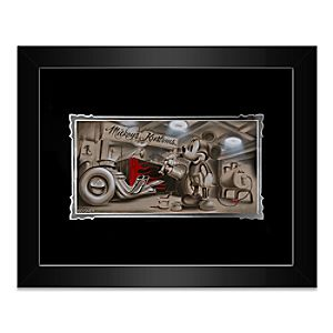 Mickey Mouse Shes Gonna Be Pretty Framed Deluxe Print by Noah