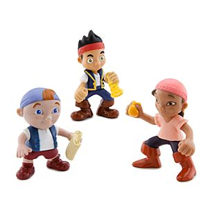 Jake and the Never Land Pirates Figure Set -- Jake, Izzy and Cubby
