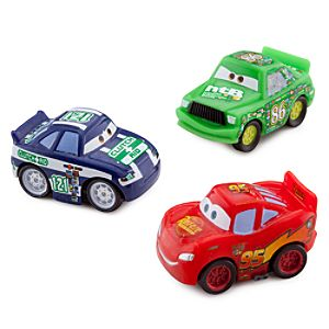Cars Micro Drifters: Lightning McQueen, Chick Hicks and Clutch Aid No. 121 Set -- 3-Pk.