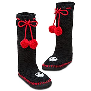 Jack Skellington Knitted Slippers
