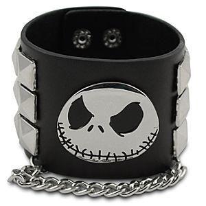 Studded Jack Skellington Cuff Bracelet