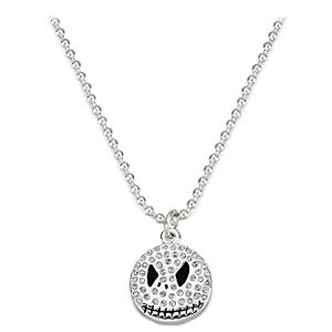 Rhinestone Jack Skellington Necklace