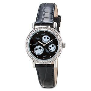 Rhinestone Jack Skellington Watch for Women
