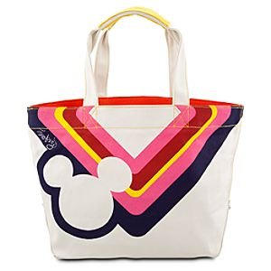 White Canvas Icon Mickey Mouse Tote Bag