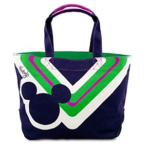 Blue Canvas Icon Mickey Mouse Tote Bag