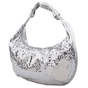Silver Sequin Mickey Mouse Hobo Bag