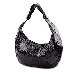 Black Sequin Mickey Mouse Hobo Bag