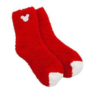Mickey Mouse Icon Knit Socks for Women -- Red