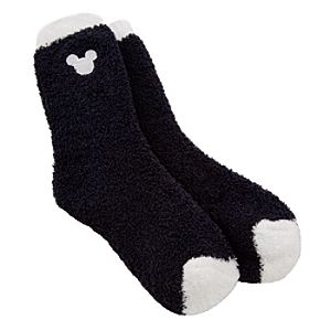 Mickey Mouse Icon Knit Socks for Women -- Black