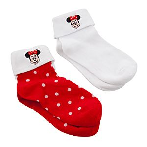 Minnie Mouse Socks for Girls -- 2-Pair
