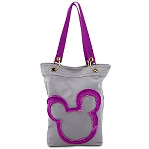 Canvas Mickey Mouse Tote - Gray