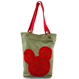 Canvas Mickey Mouse Tote - Green