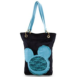 Canvas Mickey Mouse Tote - Black