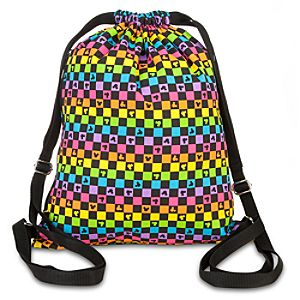 Checkered Mickey Mouse Cinch Bag