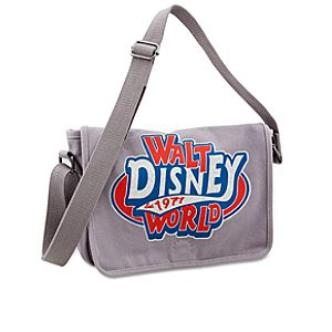 Canvas Walt Disney World Mini Messenger Bag -- Gray